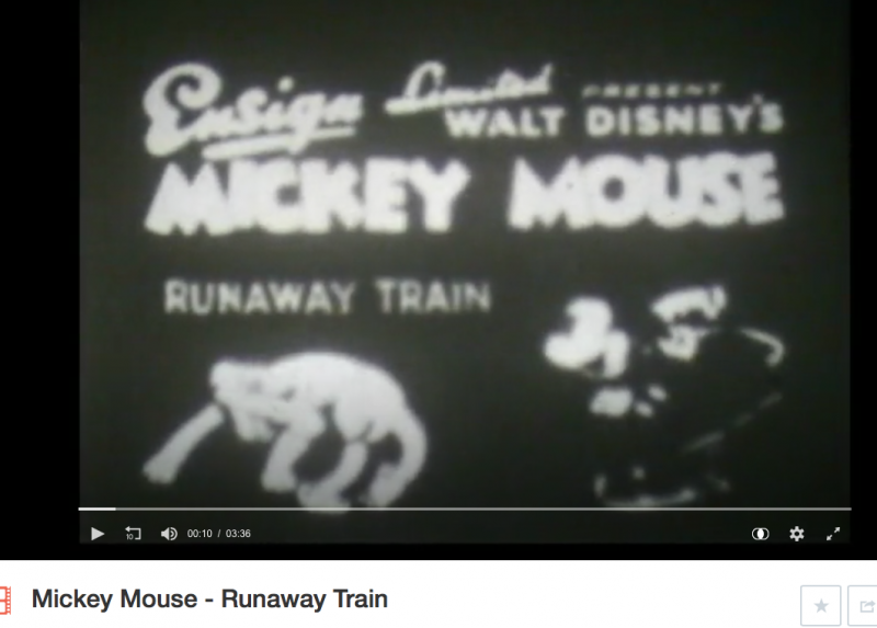Mickey Mouse video of Runaway Train
