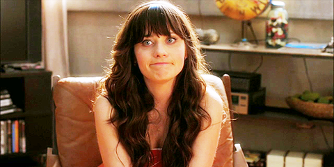 Jess Day from New Girl with funny face