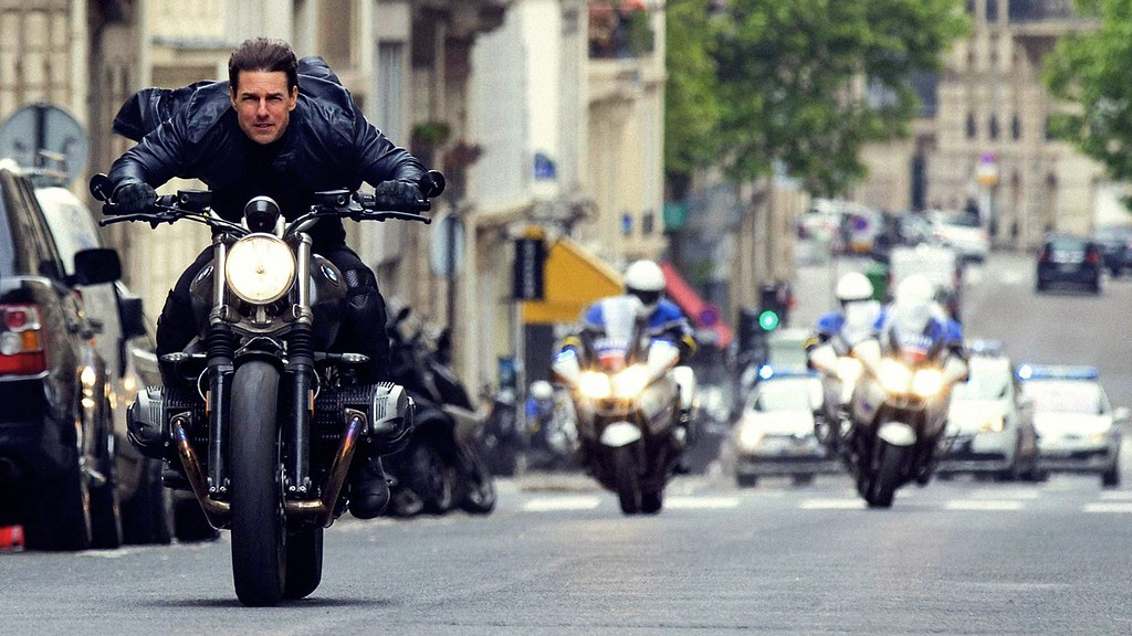 Mission Impossible Tom Cruise Riding Motorcycle