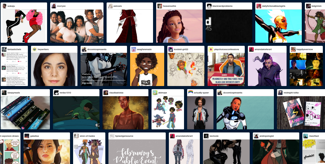 Tumblr search results for POC characters