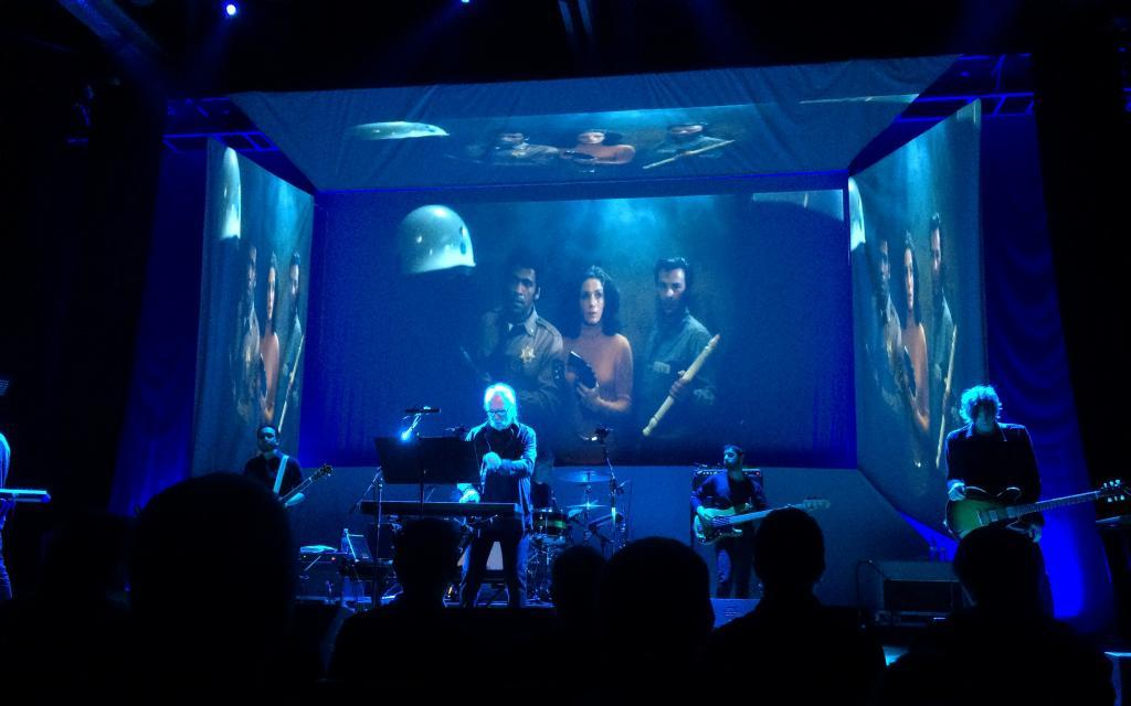 John Carpenter providing live accompaniment to one of his films in 2016.
