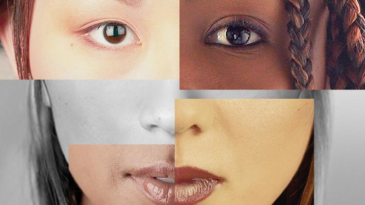 women's face composited from a variety of different women