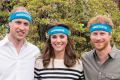 Royal family wearing charity sweatbands.