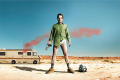 Breaking Bad Walter pantless in the desert.