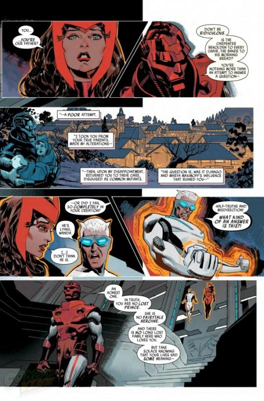 Image 2, the Maximoff's learn their true origin, in Uncanny Avengers #4, published May 2015: