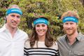 Royal family wearing charity sweatbands.