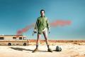 Breaking Bad Walter pantless in the desert.